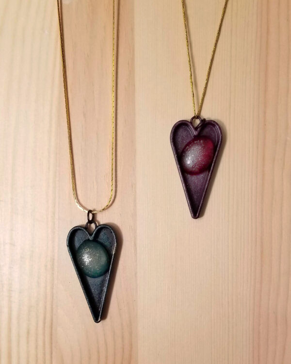 Heart's Own - Alcohol Ink Pendant Necklace - Dragonflys Wings
