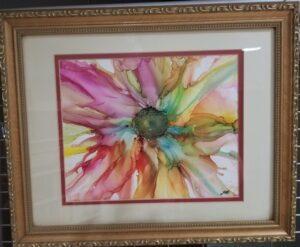 Full Summer - Alcohol Ink Tile Art - Dragonflys Wings