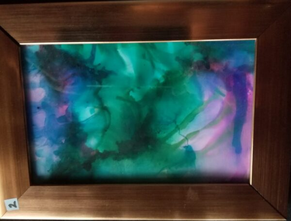 Purple Haze - Alcohol Ink Tile Art - Dragonflys Wings