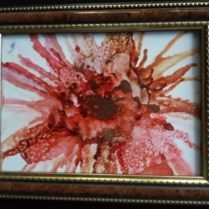 Terra Cotta Crash - Alcohol Ink Tile Art - Dragonflys Wings