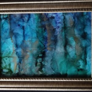 Winter in the Forest - Alcohol Ink Tile Art - Dragonflys Wings