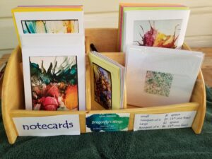 Alcohol Link Notecards - Dragonflys Wings