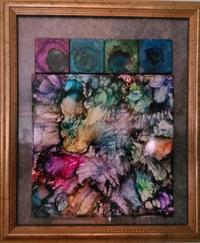Block Friends - Alcohol Ink Tile Art - Dragonflys Wings