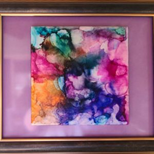Just Pretty - Alcohol Ink Tile Art - Dragonflys Wings