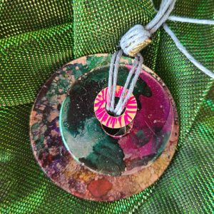 Necklace #14 Magic Eye - Alcohol Ink Pendant Necklace - Dragonflys Wings