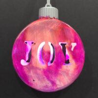 Hot Pink Joy - Ceramic Lightup Ornament - Dragonflys Wings