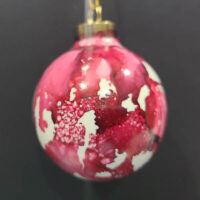 Currant Wizard Orb - Alcohol Ink - Dragonflys Wings