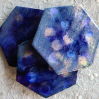 Hex and Dots 3 - Coaster Set - Dragonflys Wings