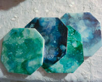Blue and Teal Set - Coaster Set - Dragonflys Wings