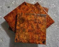 Coaster Set - Orange - Dragonfly Wings