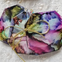 Hawaiian Blue - Alcohol Ink Coasters - Alcohol Ink Tile Art - Dragonflys Wings