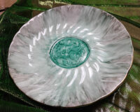 Gray Blue Accessory Dishes - Alcohol Ink Tile Art - Dragonflys Wings