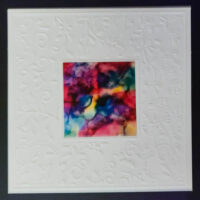 Embossed Square #6 Notecard - Dragonslfys Wings