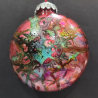 Multicolored Wizard Orb - Alcohol Ink - Dragonflys Wings