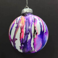 Purples Wizard Orb - Alcohol Ink - Dragonflys Wings