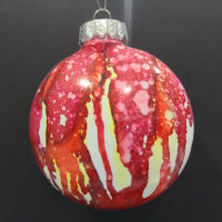 Red and Not Red Wizard Orb - Alcohol Ink - Dragonflys Wings