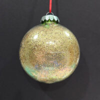 Gold Glitter Wizard Orb - Alcohol Ink - Dragonflys Wings
