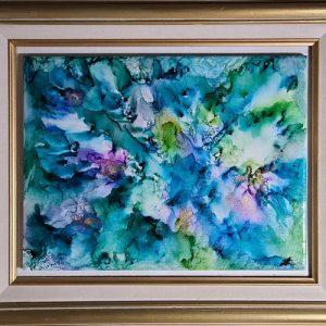Floral Splashing - Framed Tiles - Dragonflys Wings
