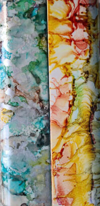 2x8 Silver Hero & Marigold Dalliance - UnFramed Tiles - Dragonflys Wings