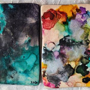 3.5x3.5 - wavy sided - Darkening Night - Festival - UnFramed Tiles - Dragonflys Wings
