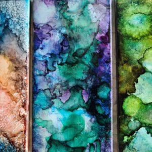 3x6 Sandy Affair, Lilac, Algae - UnFramed Tiles - Dragonflys Wings
