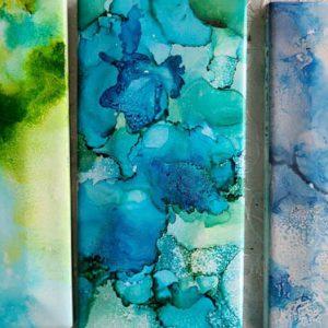 3x6 Moss, Neptune, Sky - UnFramed Tiles - Dragonflys Wings