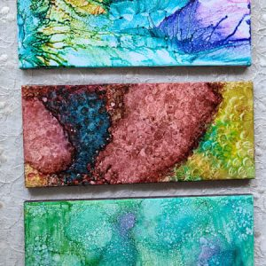 4x10 - Reach Out, Ripples, Soothing Greens - UnFramed Tiles - Dragonflys Wings