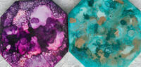 4x4 Purple Haze & Teal Upon Gold - UnFramed Tiles - Dragonflys Wings