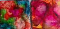 4x4 Colors & Cherry - UnFramed Tiles - Dragonflys Wings
