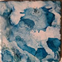 4x4 Thick Lazy Blue - Individual Coaster - Dragonflys Wings