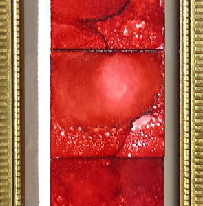 Red Series - Framed Tiles - Dragonflys Wings