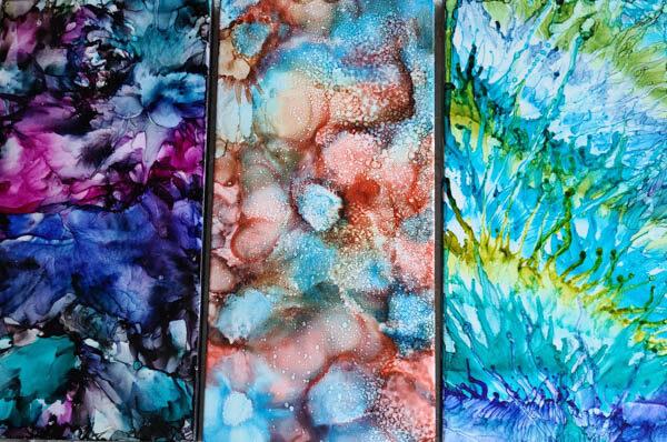 6x12 - Deep Purple Walls, Undersea, Ferns - UnFramed Tiles - Dragonflys Wings