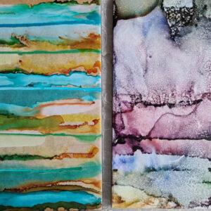 8x10 - Beaches & Glacial Slide - UnFramed Tiles - Dragonflys Wings