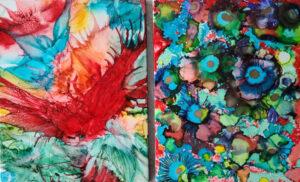8x10 - Tahiti Blooms & Wild Night - UnFramed Tiles - Dragonflys Wings