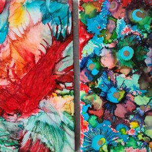 8x10 - Tahiti Blooms & Wild Night - UnFramed Tiles - Dragonflys Wings