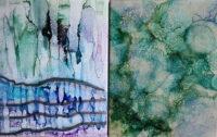 8x10 - Snowfall & Underwater - UnFramed Tiles - Dragonflys Wings