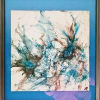 Blue Haze - Framed Tiles - Dragonflys Wings