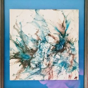 Blue Haze - Framed Tiles - Dragonflys Wings