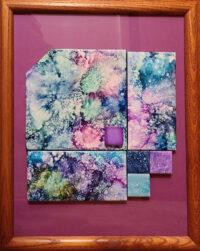 Broken Pattern - Framed Tiles - Dragonflys Wings