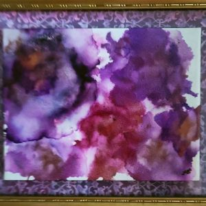 Purple Ruffles - Framed Tile - Dragonflys Wings