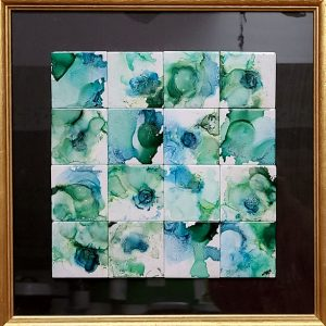 Squared Square - Framed Tiles - Dragonflys Wings