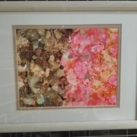 Jeckyl and Hyde - Alcohol Ink Art Tile - Dragonflys Wings