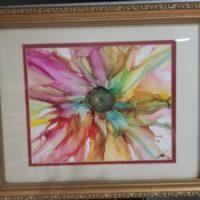 Full Summer - Alcohol Ink Art Tile - Dragonflys Wings