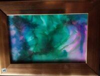 Purple Haze - Alcohol Ink Art Tile - Dragonflys Wings