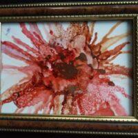 Terra Cotta Crash - Alcohol Ink Art Tile - Dragonflys Wings
