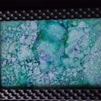 Hues - Alcohol Ink Art Tile - Dragonflys Wings