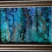 Winter in the Forest - Alcohol Ink Art Tile - Dragonflys Wings