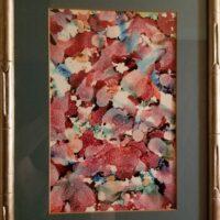 Fall Feeling - Alcohol Ink Art Tile - Dragonflys Wings