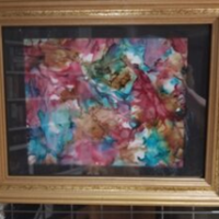 Autumn's Phase - Alcohol Ink Art Tile - Dragonflys Wings