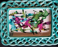 Braided Dancing - Alcohol Ink Art Tile - Dragonflys Wings